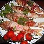 recette Rougets grillés lard et sauge