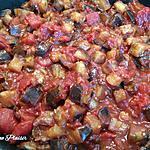 recette Poêlée d'aubergines aux tomates