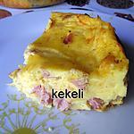 recette Quiche sans pâte  au jambon et comté