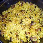 recette Riz pilaf aux aubergines