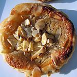recette Tartelettes feuilletées à la pomme et crème d'amande