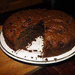 recette Gâteau fudge au rhum et aux raisins secs