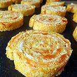 recette ROULÉS AUX CAROTTES & FROMAGE AIL ET FINES HERBES