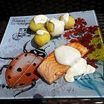 recette Pavé de saumon grillé sauce au boursin