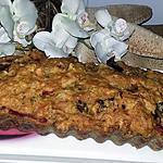 recette Cake salé sans oeufs aux poivrons, thon, curry et tomates séchées