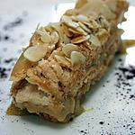 """recette """"Sans Rival"""": Millefeuille de Macarons à la crème Moka"""