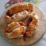 recette Petits croissants au jambon,fromage avec sauce barbecue