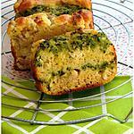 recette CAKE AU BOURSIN ET COULIS DE COURGETTE AU CURRY