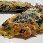 recette Oeufs épinards crevettes grises, façon frittata