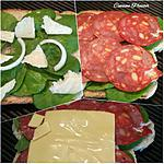recette Croque chorizo épinards et fromage