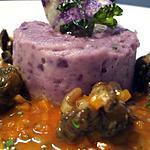 recette Petit ragoût d'escargots, écrasée de vitelottes à l'huile de noisette