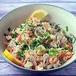 recette Salade de riz aux poissons et crevettes