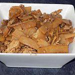 recette Subuta de dinde et pousses de bambou (compatible dukan)