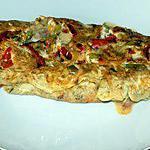 recette Omelette poivrons bacon