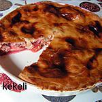 recette Tourte aux prunes rouges et aux groseilles à maquereau