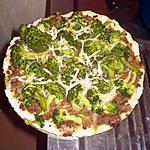 recette Pizza boeuf haché/brocolis