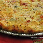 recette Flan salé comme une pizza