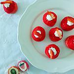 recette Petits choux fraise chocolat blanc