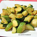 recette Courgettes sautées au curry