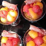 recette coupe melon pastèque