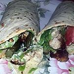 recette Wraps au blancs de dinde panee