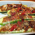 recette courgettes farcies aux saumon