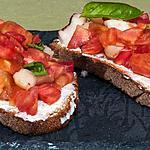 recette Bruschetta tomates pêches