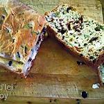 recette THERMOMIX: Cake salé Courgette, Fêta, Tomates confites, Olives noires