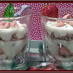 recette Verrines de Fromage blanc aux fraises