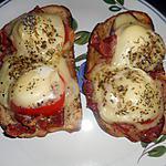 recette Tartines jambon d auvergne et crottin de chevre frais