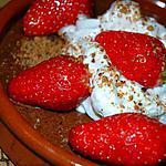 recette Mousse praliné-pistache et fraises