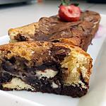 recette Brownie marbré aux deux chocolats et Kinder maxi