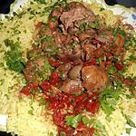 recette Riz pilaf aux foies de volaille