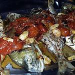 recette Dorades au tomates cerises et ail au four