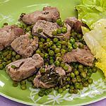 recette Sauté de filet de porc aux petits pois et aux herbes