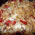 recette Orzo à la tomate et au tofu frit