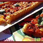 recette Tarte aux oignons et poivrons marinés