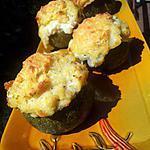 recette Courgettes farcies à la brandade de morue