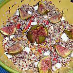 recette Salade de quinoa aux poivrons marinés et figues rôties