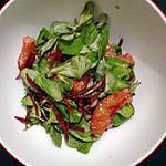 recette Salade de mâche-orange sanguine-betterave