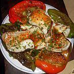 recette Blancs de seiches grillées aux poivrons longs