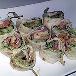 recette Brochettes de wraps roulés