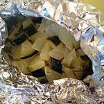 recette Courgettes marinées en papillotes cuisson plancha ou barbecue
