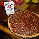 recette Tarte chocolat-pacanes au Bourbon