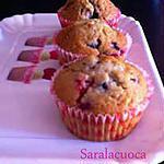 recette Muffins (aux fruits rouges)