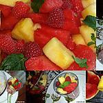 recette Salade de fruits frais au sirop de menthe