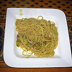 recette Pennes aux champignons, courgettes et sauce curry