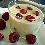 recette Crème mousseuse tonka framboise