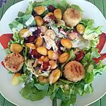 recette Salade de gnocchis au chorizo et chévre panés