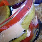 recette Légumes ensoleillés et crème de chèvre frais et poivron épicée